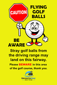 Signs have also been erected to warn golfers of the potential risk.