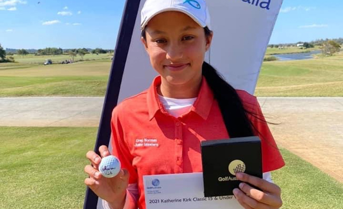 The Katherine Kirk Classic was held recently at Maroochy River and congratulations go to our very own Junior, Ionna Muir, winner of the 15 & Under Junior Championship.